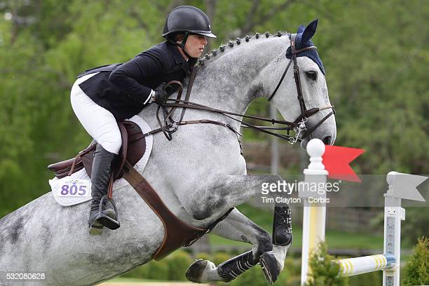 Sydney Schulman USA< riding Toscane De L'Isle in action during The $50000 Old Salem Farm Grand Prix presented by The Kincade Group at the Old Salem...