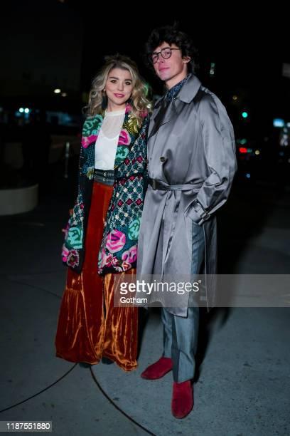 Sydney Shepherd and Adrian Enscoe attend the 2019 Guggenheim International Gala on November 13 2019 in New York City