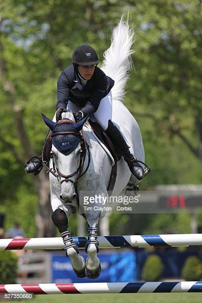 Sydney Shulman riding Quidam 13 in action during the $100000 Empire State Grand Prix presented by the Kincade Group during the Old Salem Farm Spring...