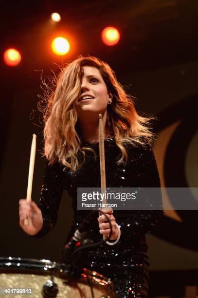 """Sydney Sierota of Echosmith performs at MTV's 2014 """"Artist To Watch"""" Kickoff Event at the House of Blues Sunset Strip on January 23, 2014 in West..."""
