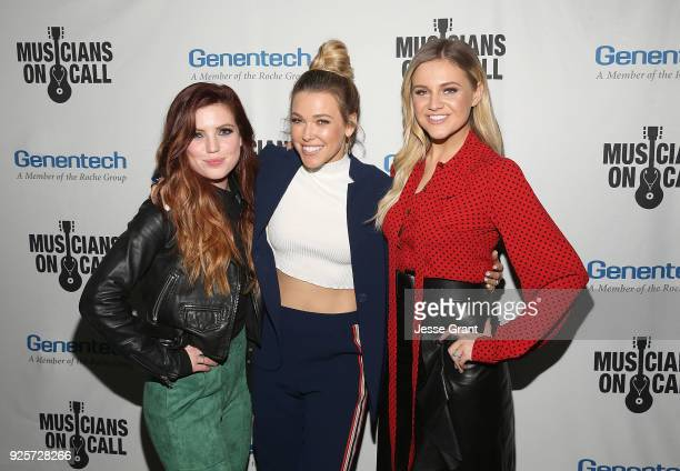 Sydney Sierota Rachel Platten and Kelsea Ballerini attend the Musicians On Call 5th Anniversary Celebration in Los Angeles Delivering The Healing...