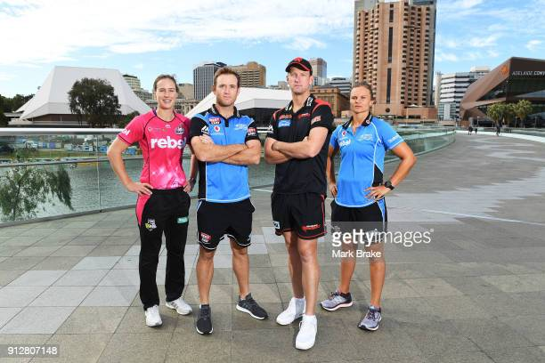 Sydney Sixers captain Ellyse PerryAdelaide Strikers BBL captian Colin Ingram BBL Melbourne Renegades captain Cameron White and WBBL Adelaide Strikers...