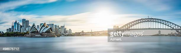 sydney skyline panorama 51 mp - sydney stock pictures, royalty-free photos & images