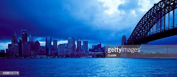 sydney skyline - izusek stockfoto's en -beelden