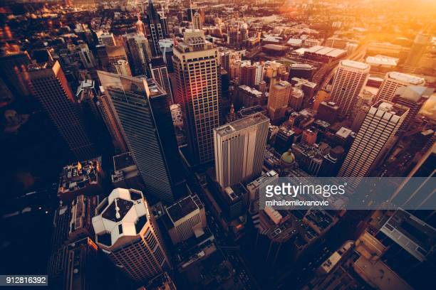 sydney skyscrapers - horizontal stock pictures, royalty-free photos & images