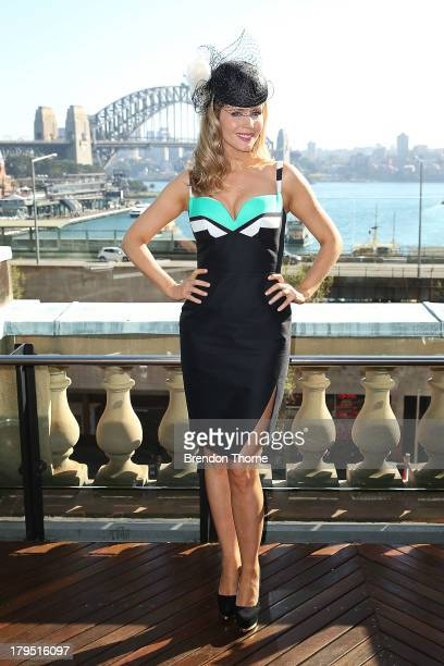 Sydney Spring Carnival ambassador Sophie Faulkner poses at the Australian Turf Club Spring Launch at Customs House forecourt on September 5 2013 in...