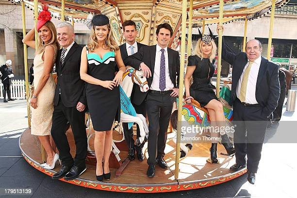 Sydney Spring Carnival ambassadors Laura Csortan Nicola Finetti Sophie Faulkner Nathan Jolliffe James Cummings Nerida Winter and Roy Billing pose at...