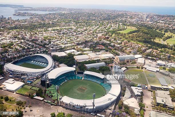 stadio veduta aerea di sydney - parco olimpico stabilimento sportivo foto e immagini stock