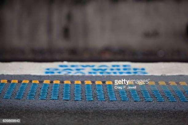 A Sydney Station Platform With Tactile Dots