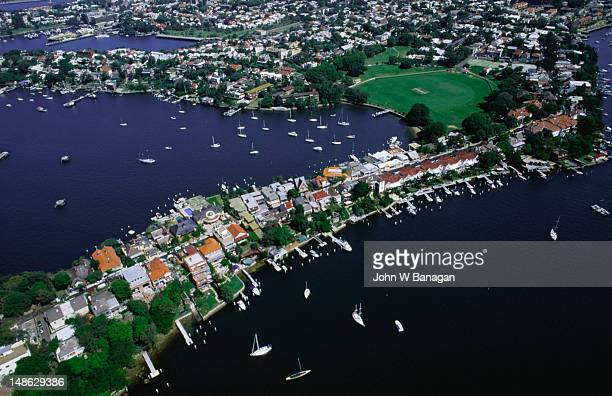 sydney suburb of balmain, named after william balmain who arrived on the first fleet. - area designer label stock pictures, royalty-free photos & images