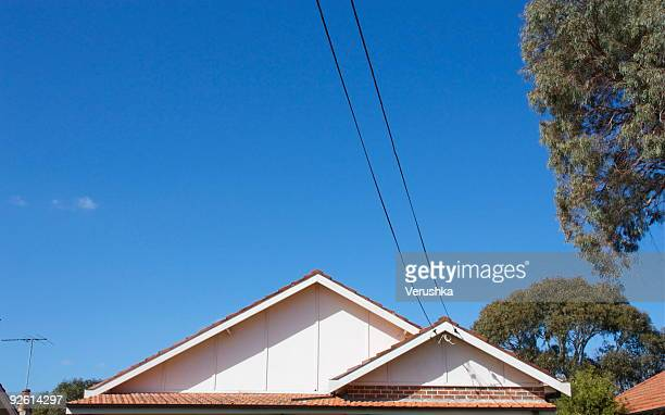 sydney suburban rooftop - roof stock pictures, royalty-free photos & images