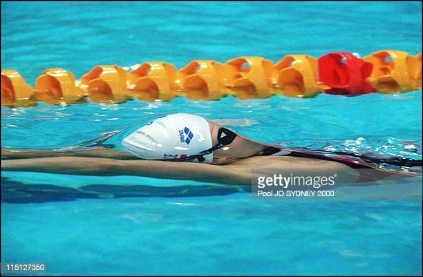 Sydney Summer Olympics swimming in Sydney Australia on September 22 2000 Women's 200m backstroke final Roxana Maracineanu silver medal