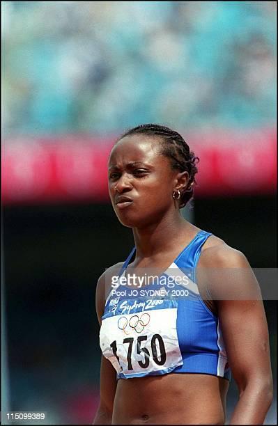 Sydney Summer Olympics women heptathlon in Sydney Australia on September 23 2000 Eunice Barber