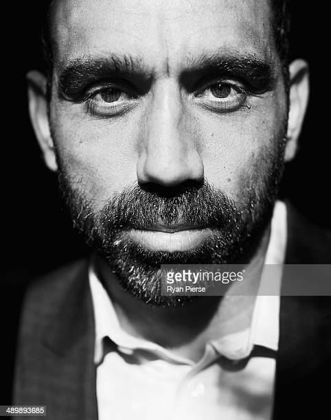 Sydney Swans AFL player Adam Goodes poses at the We Want Recognition event at the Wayside Chapel on May 13 2014 in Sydney Australia The community...
