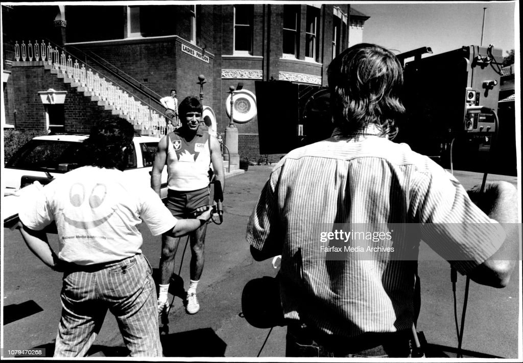 Sydney Swans captain Gerard Healy during filming of a
