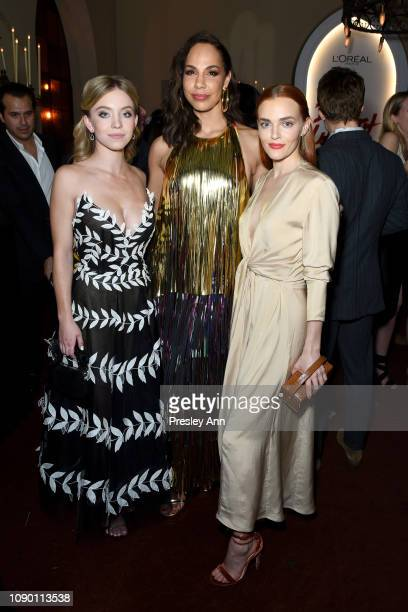 Sydney Sweeney Amanda Brugel and Madeline Brewer attend Entertainment Weekly Celebrates Screen Actors Guild Award Nominees sponsored by L'Oreal Paris...