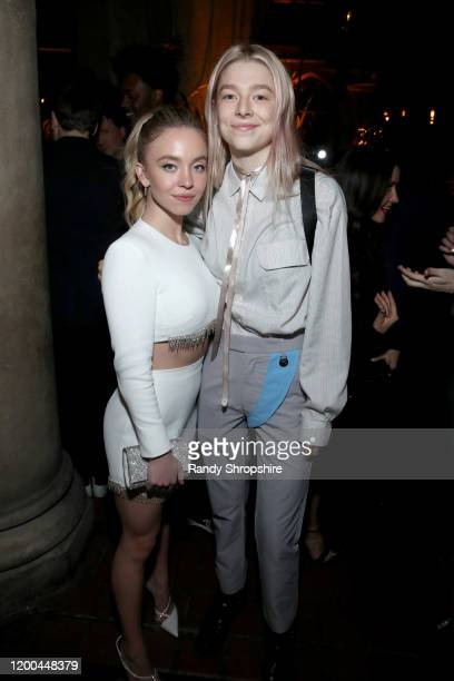 Sydney Sweeney and Hunter Schafer are seen as Entertainment Weekly Celebrates Screen Actors Guild Award Nominees at Chateau Marmont on January 18...
