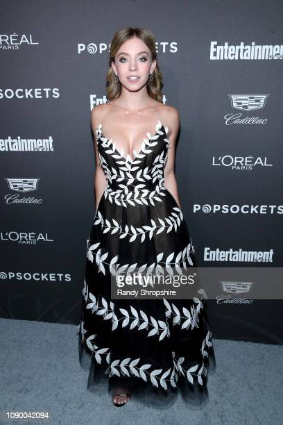 Sydney Sweeney attends Entertainment Weekly Celebrates Screen Actors Guild Award Nominees sponsored by L'Oreal Paris Cadillac And PopSockets at...