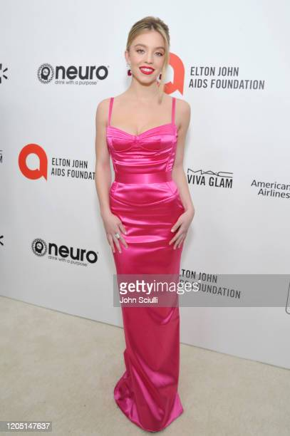 Sydney Sweeney attends Neuro Brands Presenting Sponsor At The Elton John AIDS Foundation's Academy Awards Viewing Party on February 09, 2020 in West...