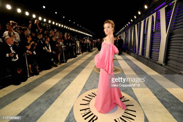 Sydney Sweeney attends the 2019 Vanity Fair Oscar Party hosted by Radhika Jones at Wallis Annenberg Center for the Performing Arts on February 24...