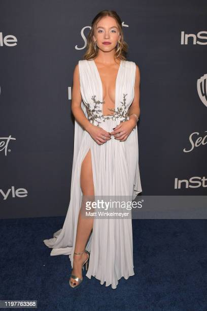 Sydney Sweeney attends The 2020 InStyle And Warner Bros 77th Annual Golden Globe Awards PostParty at The Beverly Hilton Hotel on January 05 2020 in...