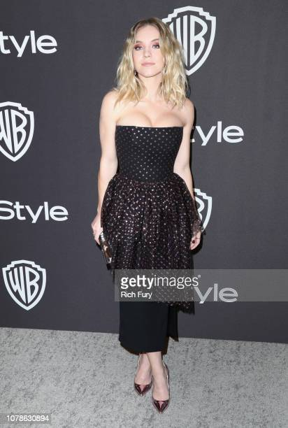 Sydney Sweeney attends the InStyle And Warner Bros Golden Globes After Party 2019 at The Beverly Hilton Hotel on January 6 2019 in Beverly Hills...