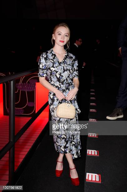 Sydney Sweeney attends the Prada show during Milan Fashion Week Fall/Winter 2020/2021 on February 20 2020 in Milan Italy
