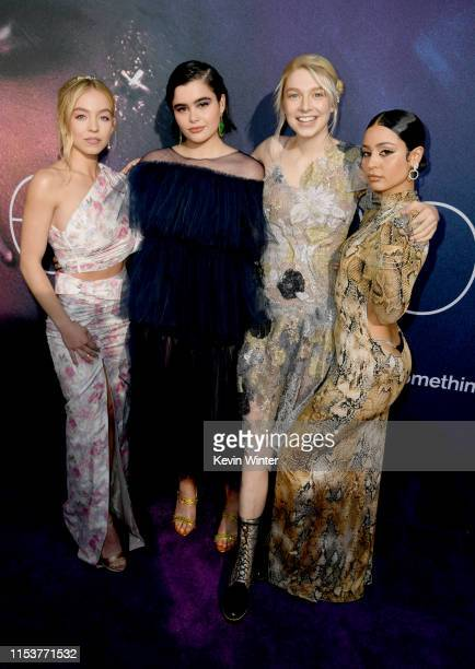 Sydney Sweeney Barbie Ferreira Hunter Schafer and Alexa Demie attend the LA Premiere of HBO's Euphoria at The Cinerama Dome on June 04 2019 in Los...
