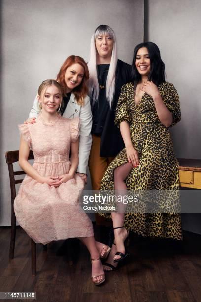 Sydney Sweeney Lara Jean Gallagher Aimee Lynn Barneberg and Otmara Marrero of film 'Clementine' poses for a portrait during the 2019 Tribeca Film...