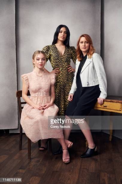 Sydney Sweeney Otmara Marrero and Lara Jean Gallagher of film 'Clementine' poses for a portrait during the 2019 Tribeca Film Festival at Spring...