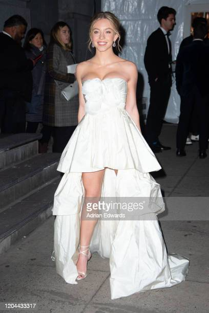 Sydney Sweeney outside the amFAR Gala held at Cipriani Wall St on February 5, 2020 in New York City.