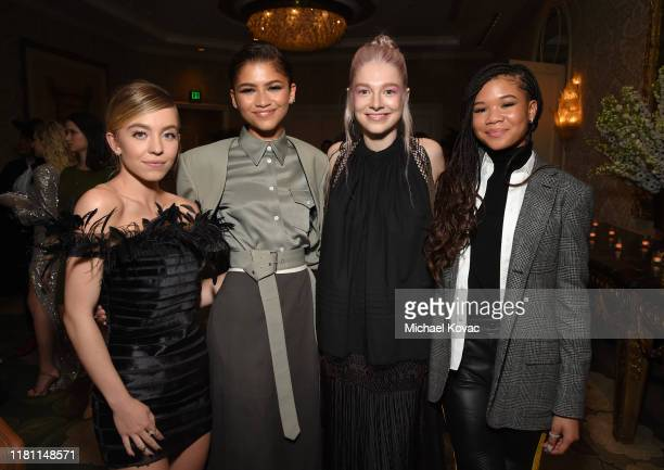 Sydney Sweeney Zendaya Hunter Schafer and Storm Reid attend ELLE's 26th Annual Women In Hollywood Celebration Presented By Ralph Lauren And Lexus at...