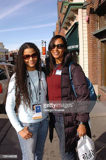 Sydney Tamiia Poitier and Anika Poitier during 2005 Park City - Seen Around Town - Day 6 at Park City in Park City, Utah, United States.