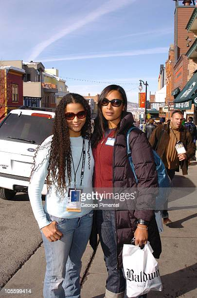 Sydney Tamiia Poitier and Anika Poitier during 2005 Park City Seen Around Town Day 6 at Park City in Park City Utah United States