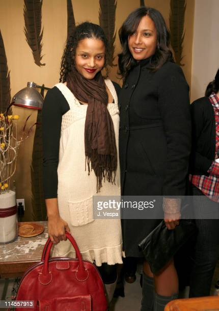 Sydney Tamiia Poitier and Anika Poitier during Cavern Wallpaper and Kidada for Disney Coutour Celebrate Their New Collections at Kaviar and Kind in...