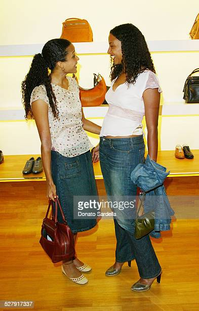 Sydney Tamiia Poitier and Anika Poitier during Hogan Trunk Show in Los Angeles at Hogan Store Los Angeles in Los Angeles California United States