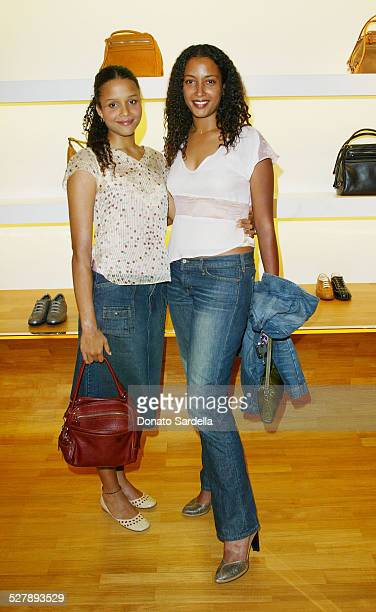 Sydney Tamiia Poitier Anika Poitier during Hogan Trunk Show in Los Angeles at Hogan Store Los Angeles in Los Angeles California United States