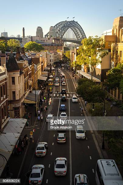 Sydney the rocks historic district.