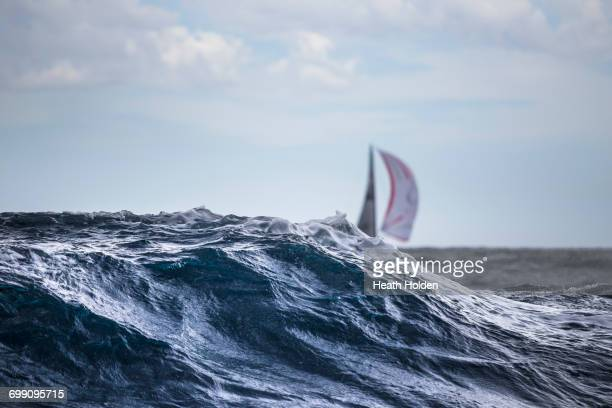 sydney to hobart yacht race. - sydney to hobart stock pictures, royalty-free photos & images