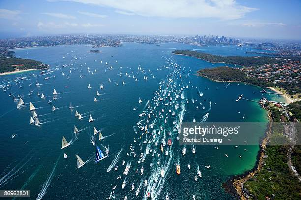 sydney to hobart yacht race - hobart tasmania stock pictures, royalty-free photos & images