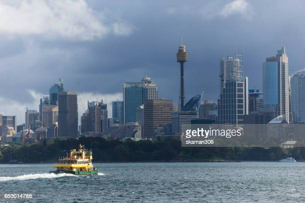 sydney tower from cruise shot from darling harbor
