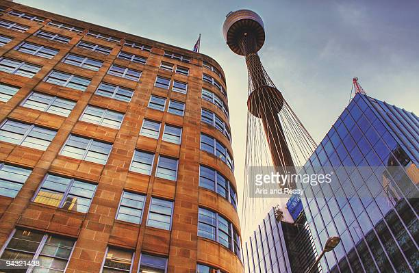 Sydney Tower Viewed from Below