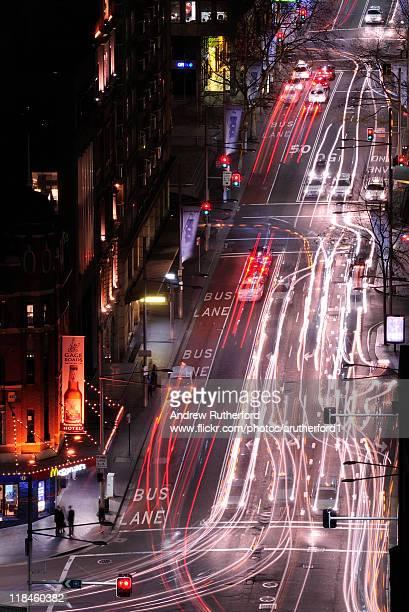 Sydney traffic at night.