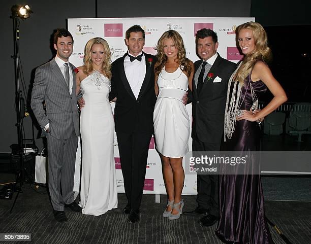 Sydney Turf Club Ambassadors Daniel Mifsud Ali Mutch Ryan Phelan Lauryn Eagle Alex ZobobboBentley and Samantha Wills attend the launch of `Golden...