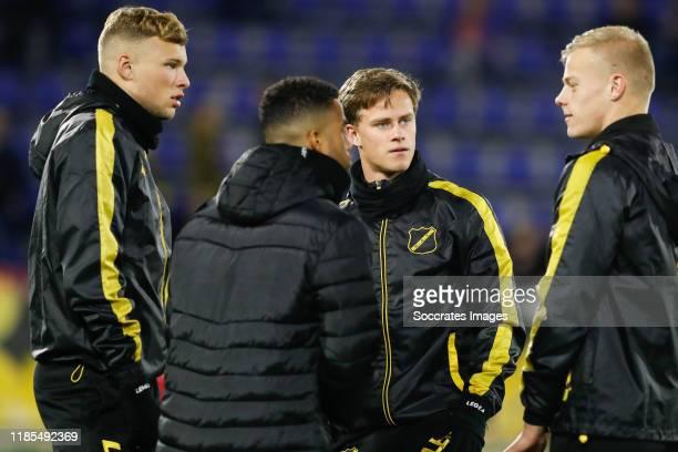 Sydney van Hooijdonk of NAC Breda, Robin Schouten of NAC Breda during the Dutch Keuken Kampioen Divisie match between NAC Breda v MVV Maastricht at...