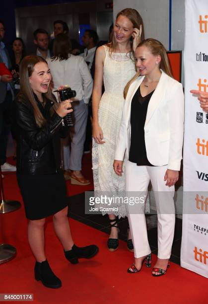 Sydney Wade Madison Wolfe and Rory Jackson attend the 'I Kill Giants' premiere during the 2017 Toronto International Film Festival at TIFF Bell...