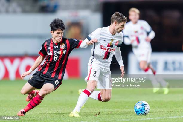 Sydney Wanderers Defender Shannon Cole in action against FC Seoul Midfielder Ju Se Jong during the AFC Champions League 2017 Group F match between FC...