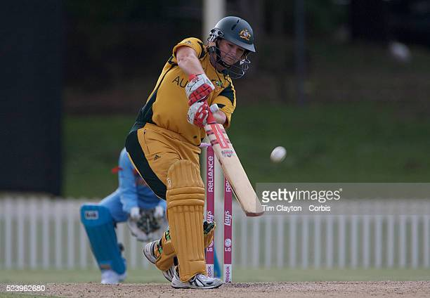 Karen Rolton batting during the ICC Women's World Cup Cricket play off for third place between Australia and India at Bankstown Oval, Sydney,...