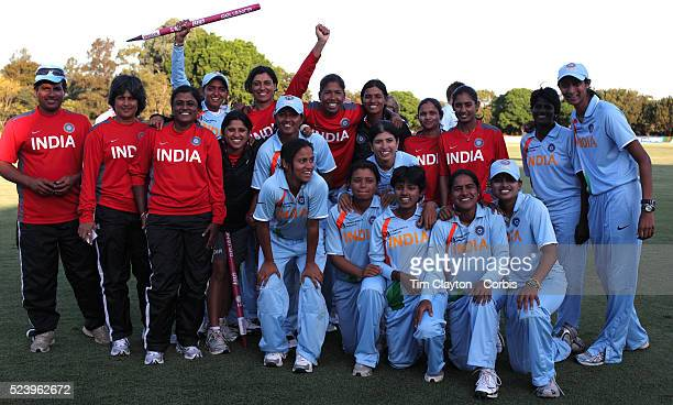 The Indian team after victory in the ICC Women's World Cup Cricket play off for third place between Australia and India at Bankstown Oval Sydney...