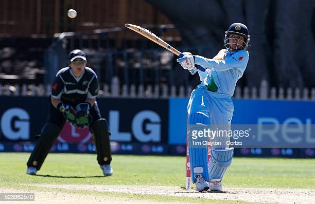 Anjum Chopra batting during the match between New Zealand and India in the Super 6 stage of the ICC Women's World Cup Cricket tournament at North...